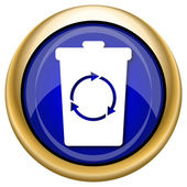 Recycle bin icon — Стоковое фото