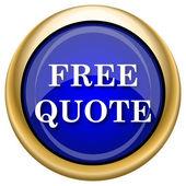 Icono de cotización gratis — Foto de Stock