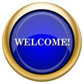 Welcome icon — Stock Photo