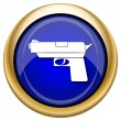 Gun icon — Stock Photo