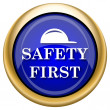Safety first icon — Stock fotografie #33340233