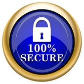 100%安全图标 — 图库照片