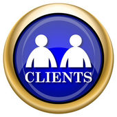 Clients icon — Stockfoto