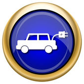 Electric car icon — Stock Photo