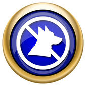 Forbidden dogs icon — 图库照片