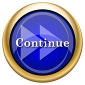 Continuar icono — Foto de Stock