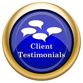 Icona di client testimonials — Foto Stock