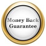 Money back guarantee icon — Stock Photo #33572627