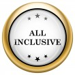 All inclusive icon — Stock Photo