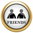 Friends icon — Foto Stock