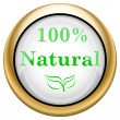 100 percent natural icon — Lizenzfreies Foto