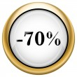 Stock Photo: 70 percent discount icon