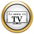 As seen on TV icon — Stock Photo #33573383
