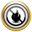Fire forbidden icon — Stock Photo #33573545