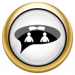 Chat icon - men in bubble — ストック写真