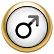 Male sign icon — Foto de stock #33574005
