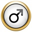 图库照片: Male sign icon