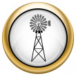 Stock Photo: Classic windmill icon
