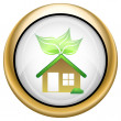 Stock Photo: Eco house icon
