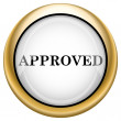 Approved icon — Stock Photo #33574165