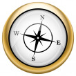 Compass icon — Stock Photo