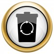 Stock Photo: Recycle bin icon