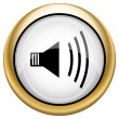 Speaker icon — Stock Photo