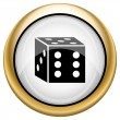Dice icon — Stock Photo #33575039