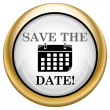 Save the date icon — 图库照片