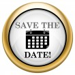 Save the date icon — Foto Stock