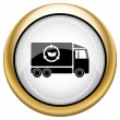 Stock Photo: Eco truck icon