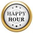 Happy hour icon — 图库照片