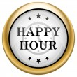 Happy hour icon — Foto de Stock