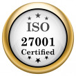 ISO 27001 icon — Stock fotografie #33575753