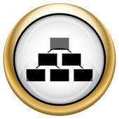 Kuruluş şeması simgesi — Stok fotoğraf