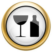 Ikona láhve a sklo — Stock fotografie