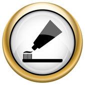 歯の貼り付け、ブラシ アイコン — ストック写真