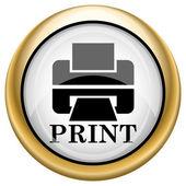 Printer with word PRINT icon — Stock Photo