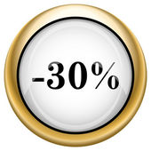 30 percent discount icon — Stock Photo