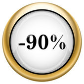 90 percent discount icon — 图库照片