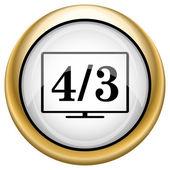 4 3 TV icon — Stock Photo