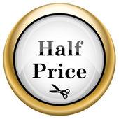 Half price icon — Stock Photo