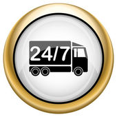 24 7 delivery truck icon — Fotografia Stock