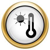 значок солнца и термометр — Стоковое фото