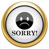 üzgünüm simgesi — Stok fotoğraf