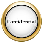 Icono confidencial — Foto de Stock