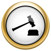 Judge hammer icon — Stock Photo