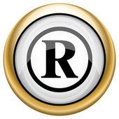 Icono de la marca registrada — Foto de Stock
