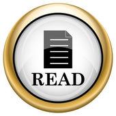 Leer el icono — Foto de Stock