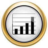 Ikona pruhů grafu — Stock fotografie